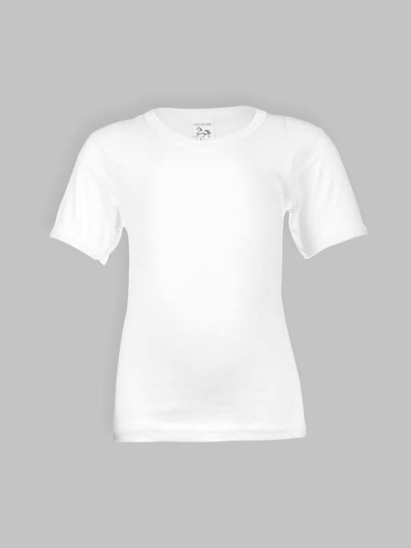 Tricot_de_peau_crin_blanc_demi_manches_pour_enfant C'est un t-shirt ou tricot de peau sous vetement pour enfant garcon